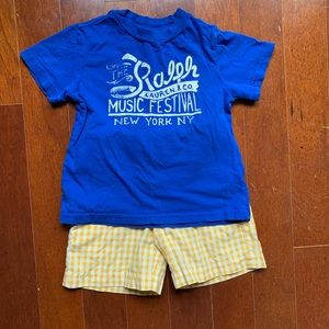 Ralph Lauren Bottoms - Ralph Lauren T-shirt and Kelly's Kids shorts